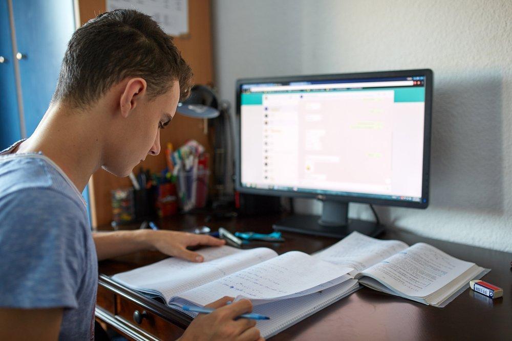 Un ragazzo che studia (foto di repertorio)