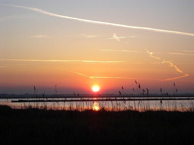La salina di Cervia al tramonto (foto di repertorio)