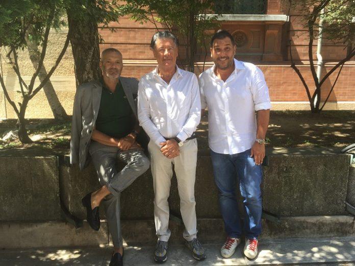 Da sx: l'architetto Emilio Rambelli di Nuovo Studio, Fabrizio Savorani del Gruppo Savorani e Vanni Casadei Baldelli, coordinatore dell'operazione