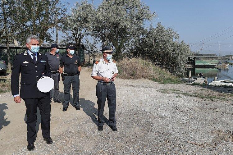 Polizia locale e comandante Andrea Giacomini alla Piallassa Baiona