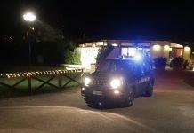 I carabinieri mentre lasciano il Koko Residence