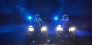 Due quad della Polizia Locale in spiaggia