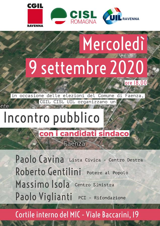 Incontro con i candidati sindaco di Faenza