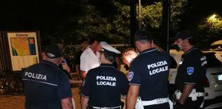 Controlli Polizia locale alla stazione di Cervia