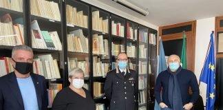 Il Comandante dei Carabinieri De Donno in visita a Legacoop
