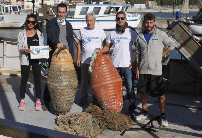 Progetto Pescami. Oltre una tonnellata di rifiuti recuperati in mare