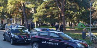 I Carabinieri manfredi durante un controllo contro lo spaccio