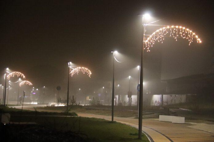 Le luminarie del 2019 sul lungomare di Milano Marittima