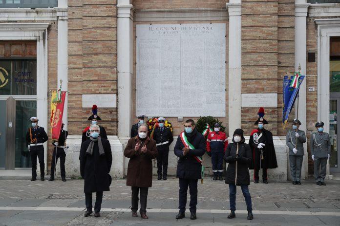 La cerimonia in piazza del Popolo