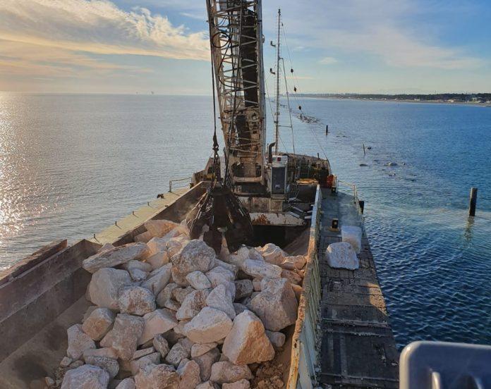 Intervento per la difesa della costa a Punta Marina