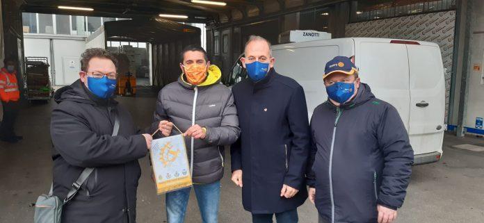 Rotary e Lion donano 310 kg di carne al Banco alimentare