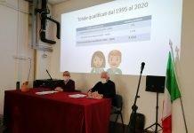 L'incontro nell'aula magna della Scuola Pescarini di Ravenna