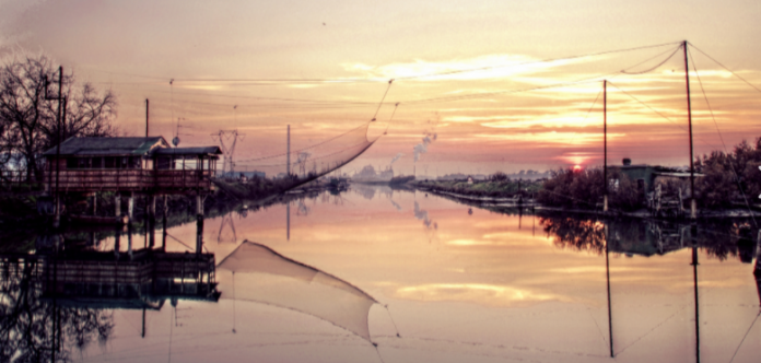 Foce fiume Lamone a Marina Romea