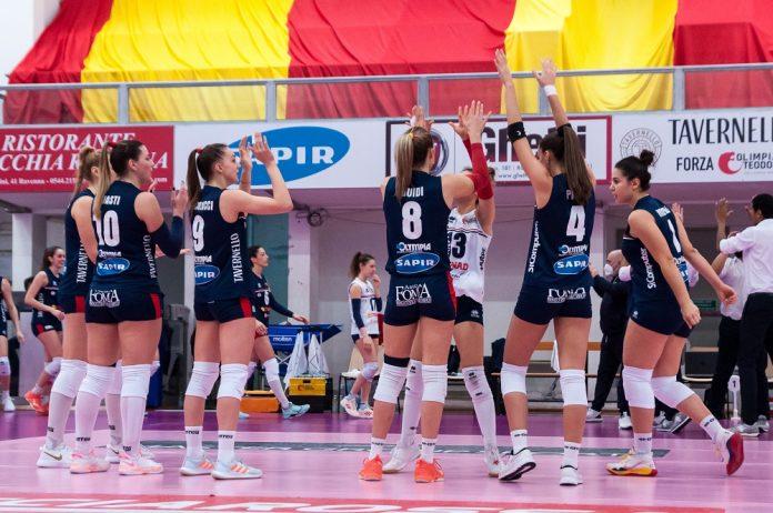 Conad Olimpia Teodora all'ultima partita (Foto Daniele Ricci)