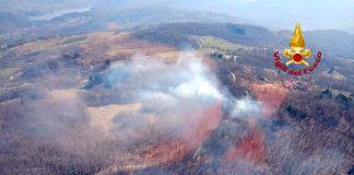 immagine aerea fornita dai vigili del fuoco