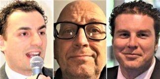 Da sx: Jacopo Morrone, Filippo Donati, Alberto Ancarani